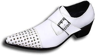 Rui Landed Oxford pour Hommes Chaussures Formelles Slip on Style Premium en Cuir Véritable Décor en Métal Monk Strap À Tal...