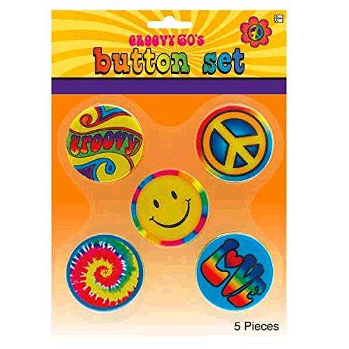 Hippie Button Pins