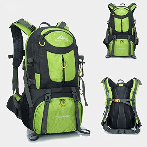 MYMM - Mochila deportiva, 50 l, para viajes, senderismo, exteriores, deportes, caminatas, acampadas, montañismo. Mochila impermeable., verde