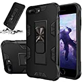 STORM BUY Phone Case for [ iPhone SE 2020 / iPhone 8 / iPhone 7 ], Heavy Duty Armor Back Cover with [Shock Absorption] Protection, Kickstand Ring Black Case for iPhone SE 2020, 4.7 inch-IRBK