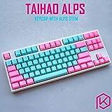 Keyboard DIY color abdominal game mechanical keyboard switch keycap Gaming keyboard (Color : Taihao Alps...