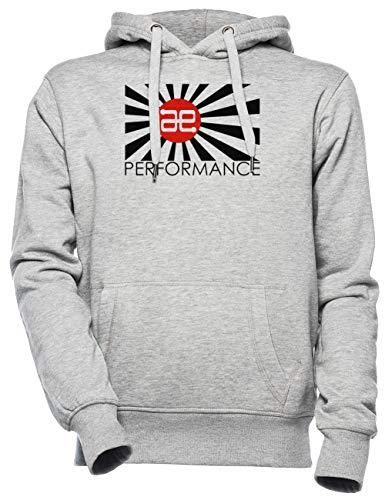 Always Evolving Performance - Logos Unisex Herren Damen Kapuzenpullover Grau Unisex Men's Women's Hoodie