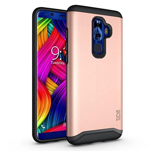 Nuu Mobile G3, G3+ Case, TUDIA Slim-Fit Heavy Duty [Merge] Extreme Protection/Rugged but Slim Dual Layer Case for Nuu Mobile G3, G3+ Android Smartphone (Rose Gold)