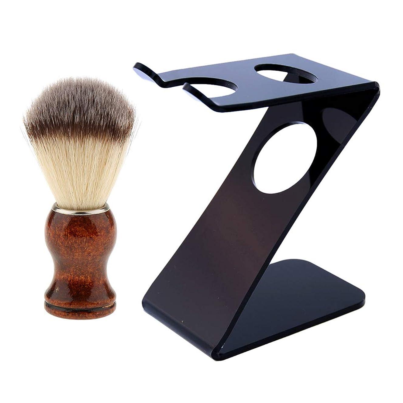 重要な役割を果たす、中心的な手段となる切り下げ遠いFLAMEER プラスチック シェービングブラシ 髭剃り Z型 スタンドホルダー ブラック 乾きやすく 長寿命