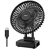 EasyAcc Ventilatore USB, Ventilatore da Tavolo 3 Potenti velocità del potente vento Cavo Ventola Scrivania Muto Ventilatore Adatto per Ufficio/Casa/Viaggi/Campeggio