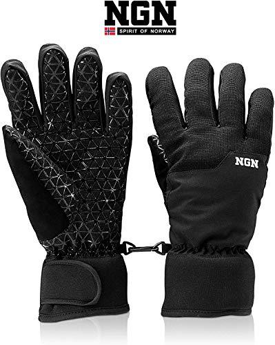 NGN Skihandschoenen, geschikt voor dames en heren, snowboard, outdoor, waterdicht, thermo-handschoenen, zwart, winterhandschoenen, handschoen, dameshandschoen, winter
