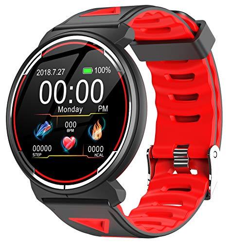Fitness Tracker Digital Smartwatch Full-Touchscreen Schrittzähler Nachrichtenbenachrichtigung Schlafüberwachung Anruferinnerung Männer Frauen Bluetooth für Android IOS