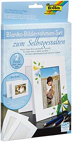 folia 2333/2 - Blanko Bilderrahmen Set zum Selbstgestalten - ideal zum Bekleben mit Mosaiksteinchen
