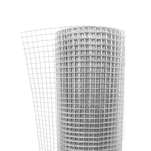 BBGS Metal Ståltrådsnät Fäktning, 5m Litet Hål Hushållens Hönsnät Mesh Balkong Staket Farming Nät (Color : Style 1, Size : 1m height)