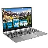 Pusokei Laptop de 15.6 Pulgadas, IPS 1920x1080 7mm Metal Ultrabook, UHD Graphics 600, Intel Celeron N4100 GPU, 8GB LPDDR4 RAM, 256GB SSD, Altavoz de Dos Canales, para Windows 10(Plata)