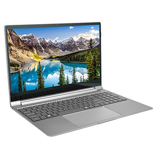 Ordenador portátil, portátil con teclado retroiluminado de 15,6 pulgadas, para Intel N4100,8+256 GB de cuatro núcleos,1920 x 1080 IPS, altavoz integrado de dos canales, Ultrabook de 7 mm(Plata)