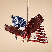 Enesco Jim Shore Heartwood Creek Eagle with Flag Ornament, 3-1/2-Inch