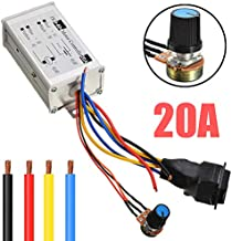 PWM DC Motor Speed Controller DC 9V-60V Pulse Width Modulation Regulator 20A 1200W Stepless Variable Speed/Forward and Reverse Switch/Pulse Width Modulation DC Speed Regulation