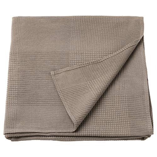 ik Ikea Indira - Colcha para cama de matrimonio, color marrón claro, 230 x 250 cm