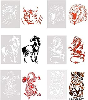 ausuky - Plantilla para Pintar con diseño de Tigre/león/Gato/dragón/Caballo