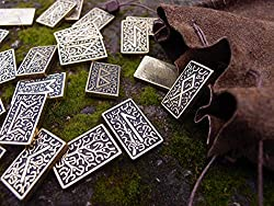 elder futhark metal runes set