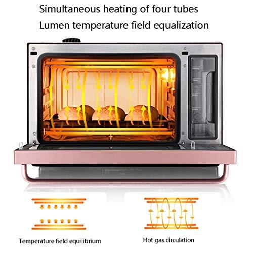 51x4GWA4iVL - YXZQ 28L Mini-Ofen Haushalt Multifunktions-Dampfofen All-in-One 30 Arten von Menü-Timing Doppelschicht-Tür aus gehärtetem Glas 1,2 l Wassertank mit Zubehör 2050W