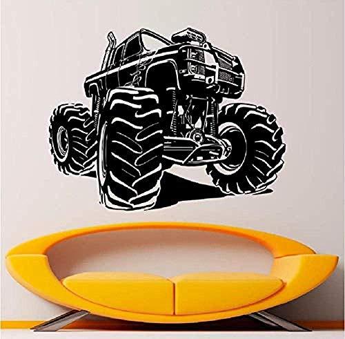 Tatuajes de pared Monster Truck Vinyl Racing Car Sticker Art Mural House Living Room Garage Interior Extraíble Home Poster Decor 57 * 74 cm