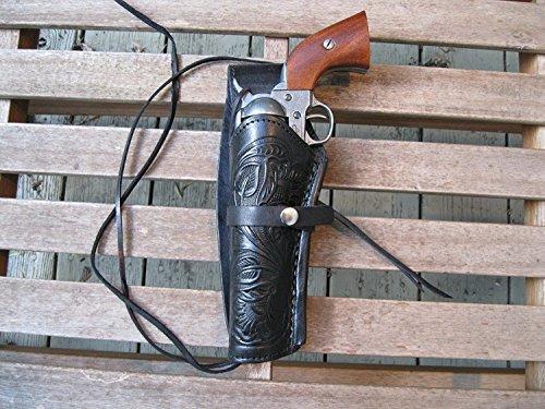 Western Express – Left Handed – 6' Black Tooled Leather...
