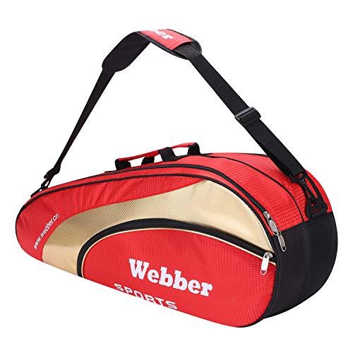 Badminton - Bolsa de raqueta de tenis 6 bolsas de tenis portátil bolsa de transporte...