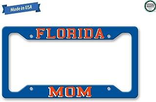 The Turnip Seed Co Florida Mom License Plate Frame LP1311 (Blue/Orange)
