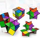 SHONCO Cubo Mágico 2 In 1,Cubo de Velocidad,Superficie Lisa Sólida y Duradera,Alivio de la...
