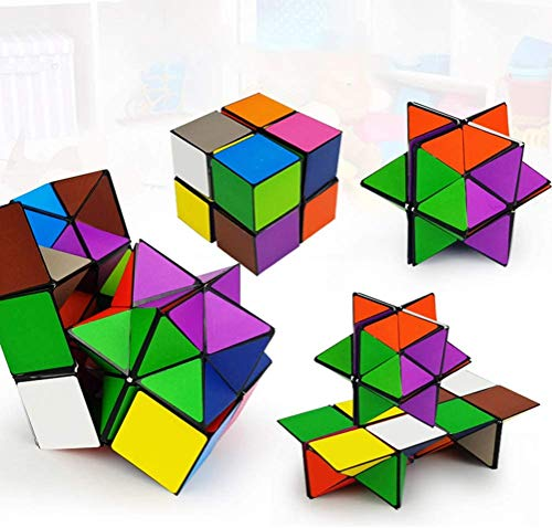 Magic Star Cube 2 in 1,Infinity Cube,magic cube,Smooth Surface- Solid & Durable,3D Assembly Fidget Stress Anxiety Relief,Brain Teaser,Durable Puzzle Cube for Kids and Adults
