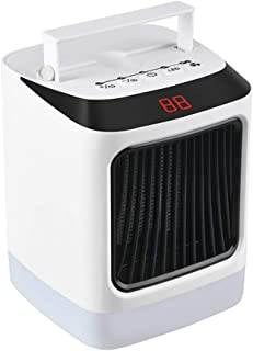 KAILUN Calefactor de Aire Caliente Portatil, Calentador Eléctrico Cerámico PTC Cerámico 1000W Bajo Consumo Termoventilador de Espacio Personal con Oscilación Automática, para Oficina, Baño, etc.