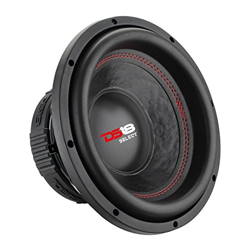 """DS18 SLC12S Car Subwoofer Audio Speaker - 12"""" in. Paper Glass Fiber Cone, Black Steel Basket, Single Voice Coil 4 Ohm Impedance, 500W MAX Power and Foam Surround for Vehicle Stereo Sound System"""