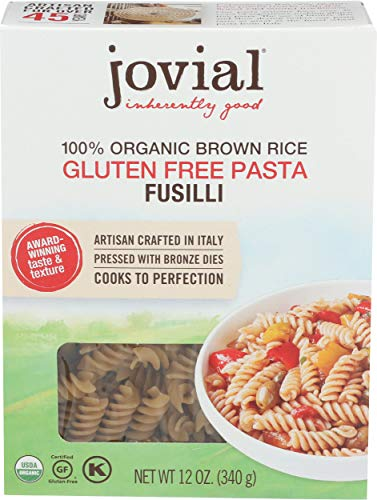 Jovial Pasta Brown rice Organic Fusilli, 12 oz