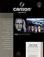 Canson Infinity Editionエッチングラグ310gsm、ナチュラルホワイトマットインクジェット用紙、A4、25枚入り