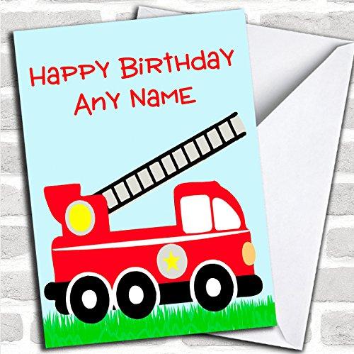 Brandweerman Brandweerman Aangepaste verjaardagswenskaart- Verjaardagskaarten/Kinderverjaardagskaarten