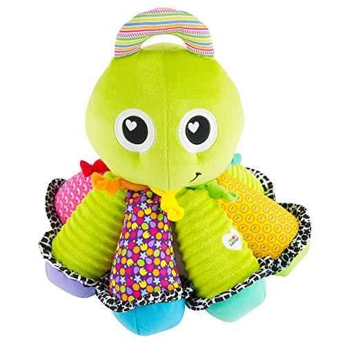 Lamaze Babyspielzeug Song-Krake Mehrfarbig, Kleinkindspielzeug, Vereint Kuscheltier & Greifling, Fördert Tastsinn und Hörvermögen Ihres Kindes, Musikspielzeug, Ideales Weihnachtsgeschenk, Ab 6 Monaten