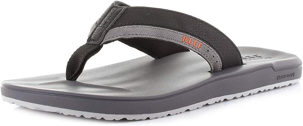 Reef Men's Contoured Cushion Sandal, Grey/Orange