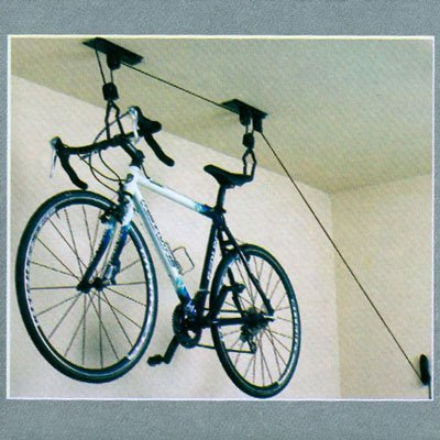 Ceiling Mounted Bike Rack Bicycle Hanger Garage Rack (with Pully Lifting and Lowering System)
