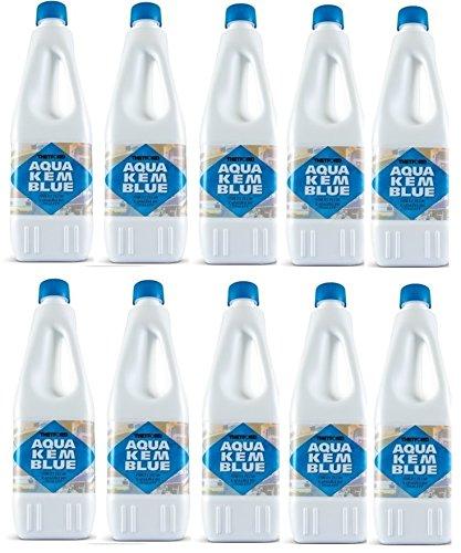 Aqua KEM - Bouteille de 2 litres dégivrante pour réservoir de camping-car, toilettes, chimique, ACque, noire, marque Thetford - Offre pour 10 bouteilles de 2 litres