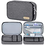 Diabetic Supplies Travel Case, Simboom EpiPen Carrying Medical Case Insulated, Holds 3 EpiPens, Glucose Meter, Asthma Inhaler, Allergy Medications for Kids and Adults(Bag Only)-Gray