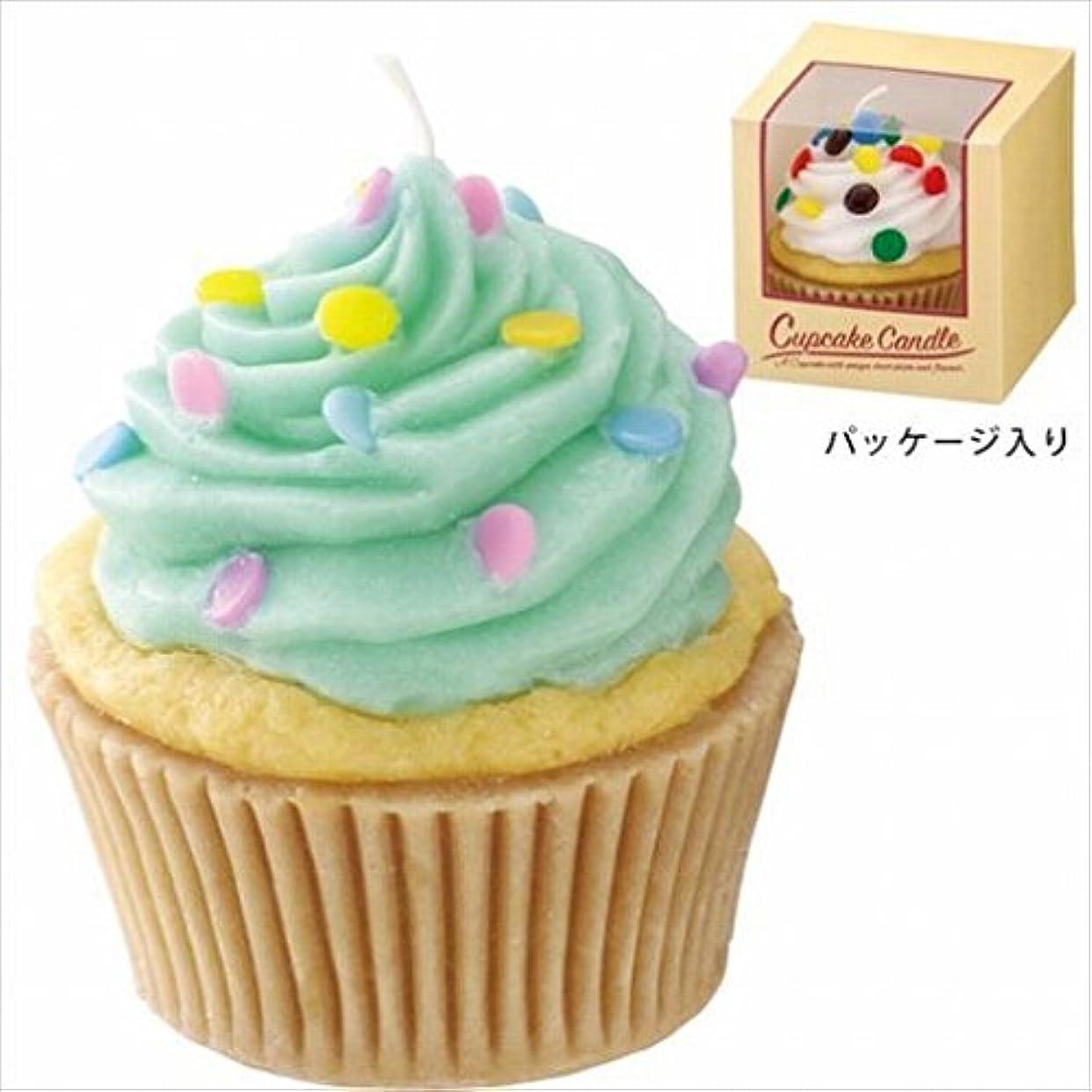 雑種敵意月カメヤマキャンドル(kameyama candle) アメリカンカップケーキキャンドル 「 ミントクリーム 」
