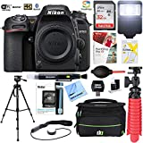 Nikon D7500 20.9MP DX-Format 4K Ultra HD Digital SLR Camera (Body Only) with 32GB Deluxe Bundle - (Renewed)