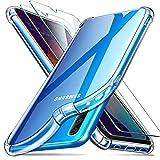 ivencase Funda Compatible con Samsung Galaxy A50 y 2 Pack Cristal Templado, Ultra Fina Silicona TransparenteTPU Carcasa Protector Airbag Anti-Choque Anti-arañazos Case Cover