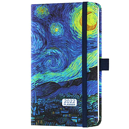 2022 A6 Pocket Diary – Slim Diary A6 Week to View, Planner and Organiser for School and Office, January 2022 to December 2022, 2022 Pocket Slim Diary