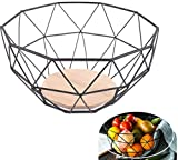 Wuudi Corbeille de Fruit de Stockage Panier de Fruit Bol à Fruits Panier à Légumes en Fer Cuisine