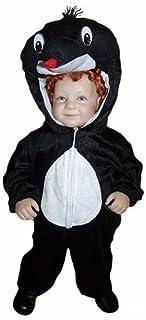 Seruna Maulwurf-Kostüm An47 für Babies und Klein-Kinder Faschingskostüme, Gr.-86-92/18-24 Monate, Schwarz-Weiß