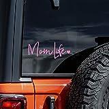 Mom Life Decal Vinyl Sticker Cars Trucks Vans Walls Laptop   Light Pink   8'