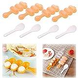 Xkfgcm 4 Piezas Pequeña Bola de Arroz Molde DIY Kits de Moldes de Sushi Juego de Moldes de Bolas de Arroz para Niños con Forma de Gato Lindo con DIY Kitchen Cuchara Molde de Cocina de Herramientas