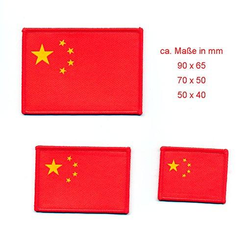 Set van 3 vlaggen Vlag Volksrepubliek China Peking Patch opstrijkapplicatie 0866