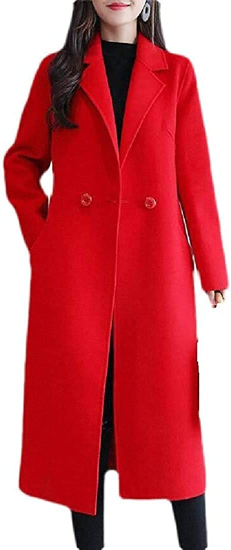 67% OFF of fixed price Yhsuk At the price of surprise Women Overcoat Winter Double-Breasted Wool Pea Lapel Coat