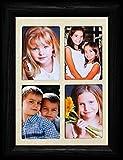 PersonalizedbyJoyceBoyce.com 2x3 Wallet Window Black Frame ~ Holds 4-Portrait 2'x3' Wallet Photos ~ Gift Frame for Grandparents Grandkid Photos! (Black)