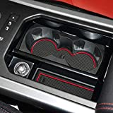 Auovo 8pcs Anti-dust Mats for Range Rover Evoque Accessories 2012-2018 Custom Fit Center Console,Car Cup...