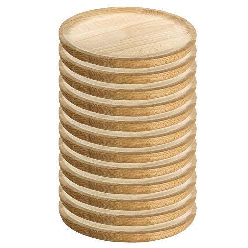 Ruibal - Platos para Pulpo de Madera - Set de 12 - Ø 18 cm Pino de primera calidad Ideal para comer pulpo a la gallega, pulpo.